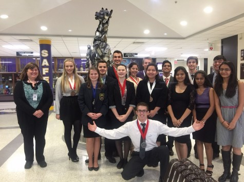 DECA students score highly at conference