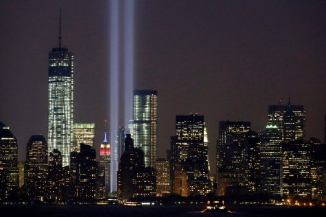 Two lights in remembrance of 9/11